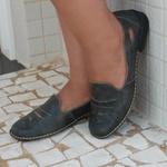Sapatilha em couro Satoria Oliva J.Gean