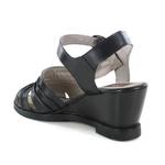 Sandália em Couro Anabela Preta J.Gean Outlet