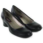 Sapato Em Couro Lolla Baixo Preto J.Gean OUTLET