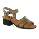 SAPATO EM COURO TAUPE J.GEAN OUTLET