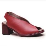 Sandália Lolly Em Couro Rouge + Bolsa de Mão Em Couro Rouge J.Gean