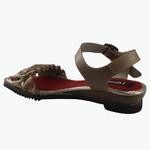 Sandália Em Couro Susan Baixa Pele J.Gean Outlet