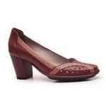 Sapato Ibizza Em Couro Vermelho J.Gean Outlet