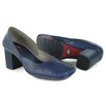 Sapato Galeany Alto Em Couro Blue J.Gean
