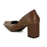 Sapato Galeany Alto Em Couro Amêndoa J.Gean