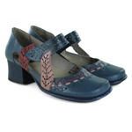 Sapato New Kelly Em Couro Navy J.Gean