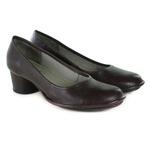 Sapato Em Couro Lolla Baixo Bordô J.Gean