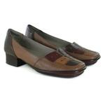 Sapato New Mariah Em Couro Amêndoa J.Gean