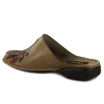 Sapatilha Em Couro New Exclusiva Taupe J.Gean