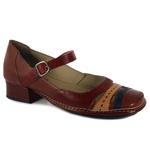 Sapato New Mariah Em Couro Vermelho J.Gean
