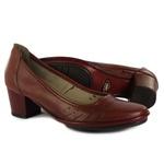 Sapato Ibizza Médio Em Couro Vermelho J.Gean