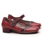 Sapato New Mariah Em Couro Rouge J.Gean