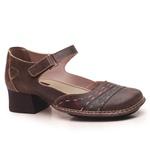 Sapato New Kelly Café Em Couro J.Gean