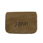 Porta Cartão 100% Em Couro Castanho J.Gean