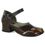 Sapato New Kelly Coffee Em Couro J.Gean Outlet