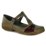Sapatilha Vitore Taupe Em Couro J.Gean OUTLET