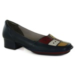 Sapato New Mariah Navy Em Couro J.Gean OUTLET