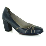 Sapato Ibizza Navy Em Couro J.Gean Outlet