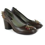 Sapato Lolla Alto em couro Coffee J.Gean