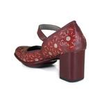 Sapato Galeany Alto Em Couro Vermelho J.Gean