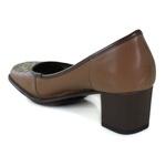 Sapato Galeany Médio em couro Amêndoa J.Gean Outlet