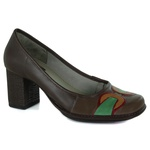 Sapato Galeany Alto Em Couro Coffee J.Gean OUTLET