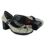 Sapato Galeany Alto Em Couro Marfim J.Gean