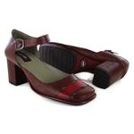 Sapato Em Couro Galeany Vermelho J.Gean Outlet
