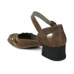 Sapato New Kelly em couro Laranja J.Gean