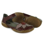 Sapatilha em couro Vitore Vermelha J.Gean