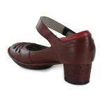 Sapato Lolla Baixo em couro Vermelho J.Gean OUTLET