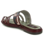 Sandália Arielle em couro Vermelho J.Gean Outlet