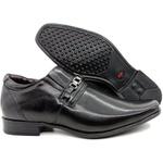 Calçado Masculino Sapato Social Em couro Kéffor Preto Linha Berlim