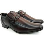 Calçado Masculino Sapato Social Em Couro Kéffor Castanho Linha Berlim