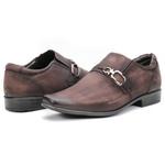 Calçado Sapato Social Masculino Em Couro Vinho Kéffor Linha Berlim