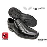 Calçado Sapato Confort Em Couro Kéffor Cor Preto