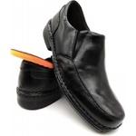 Calçado Sapato Confort Leve Em Couro Kéffor Cor Preto