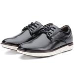 Sapato Masculino Oxford Em Couro Cor Preto Kéffor Linha Cronos