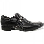 Sapato Social Masculino Executivo Em Couro Preto Kéffor Linha Detroit
