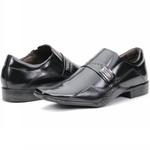 Calçado Sapato Social Executivo Em Couro Fino Preto Kéffor Linha Detroit
