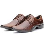 Calçado Sapato Social Executivo Em Couro Castanho Kéffor Linha Detroit