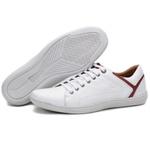 Calçado Sapatênis Casual Em Couro Branco Kéffor Linha Fênix