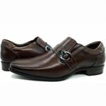 Sapato Social Executivo Em Couro Confort Marrom Kéffor Linha Istambull New
