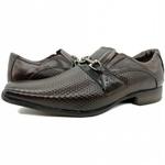 Calçado Masculino Sapato Social Em Couro Kéffor Marrom Linha Istambull New