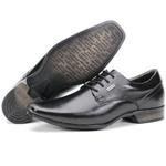 Sapato Social Em Couro Cadarço Kéffor Preto Istambull New