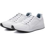 Calçado Sapatênis Casual Em Couro Branco Kéffor Linha Jogger