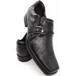 Calçado Masculino Sapato Executivo Em Couro Kéffor Preto Linha Metrópole New