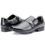 Calçado Sapato Social Em Couro Preto Kéffor Linha Metrópole New