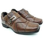 Calçado Infantil Sapato Social em Couro Cor Chocolate Kéffor Linha Óries
