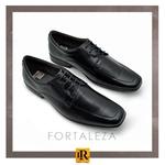 Sapato Social Fortaleza Couro com Cadarço - Preto